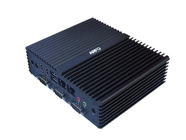 MINI PC INDUSTRIAL ARFO MOD. AR-450, PROCESSADOR I5, 4GB, 256GB SSD MSATA, 4 SERIAL, 6 USB, 2 HDMI, 2 LAN, PADRÃO VESA  (wi-fi opcinonal nao incluso) com linux