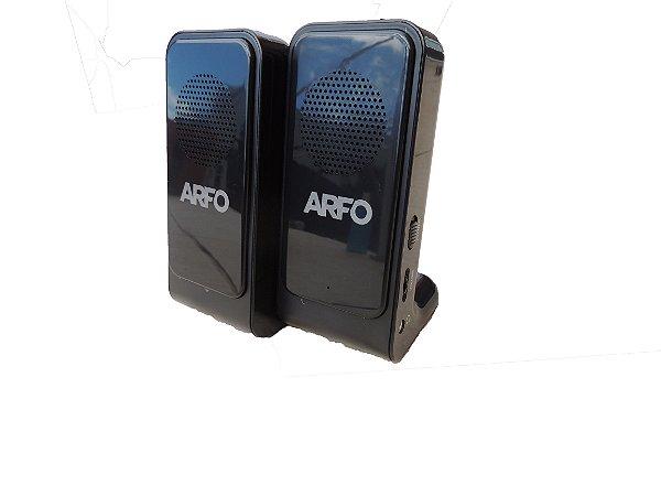 Caixa De Som ARFO 3RMS Com Botão: liga/desl., volume e entrada para fone
