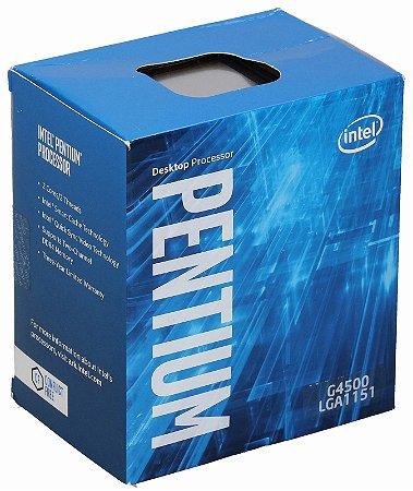 PROCESSADOR INTEL PENTIUM GOLD 7TH, G4500, 3,5Ghz, 3Mb cache