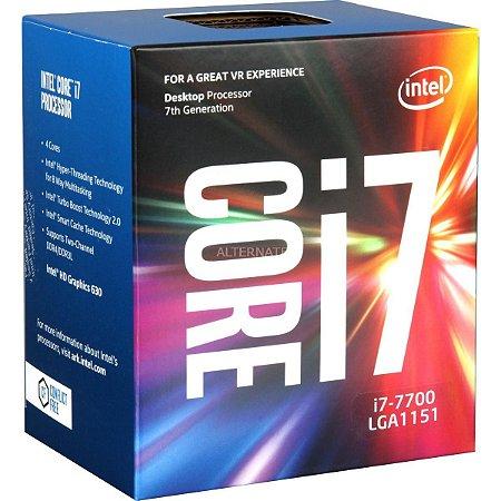 PROCESSADOR INTEL CORE I7 7700, 7TH, 3.6Ghz, 8Mb Cache