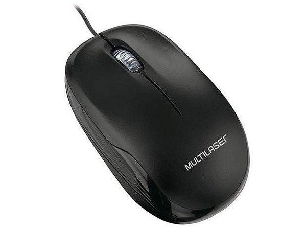 MOUSE COM FIO USB MULTILASER MO255 OPTICO PRETO 1200DPI PRETO