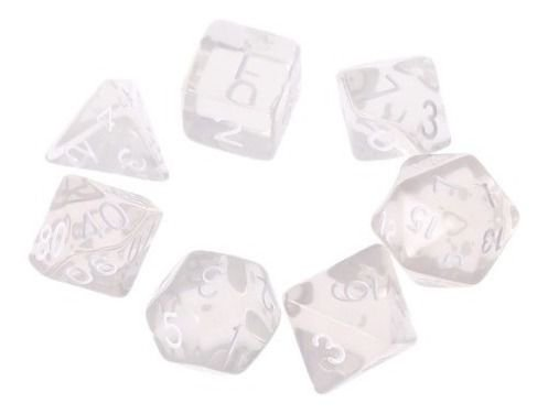 DUPLICADO - Conjunto de 7 dados RPG - Dungeons and Dragons - Transparente