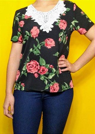 "T-shirt ""Rosas"""