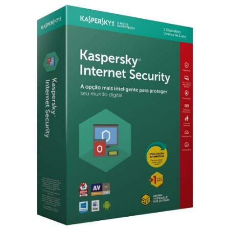Kaspersky Internet Security 2018 - Licença - 01 PC - 01 Ano