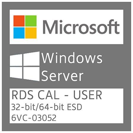 Microsoft Windows Server - RDS CAL - User - Licença + NF-e