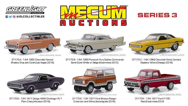 MECUM AUCTIONS COLLECTORS CARS SERIE 3 1/64