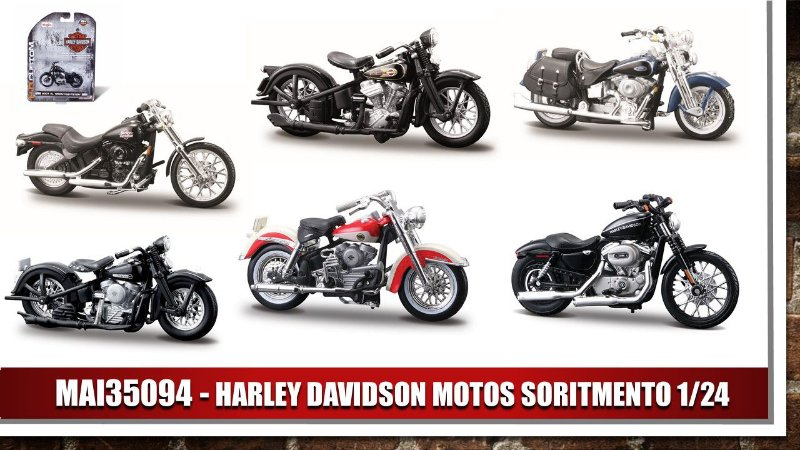 HARLEY DAVIDSON MOTOS SORITMENTO 1/24
