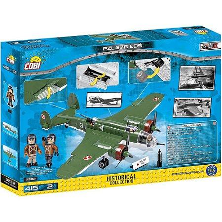 AVIÃO MILITAR PZL-37B BLOCOS PARA MONTAR COM  415 PÇS