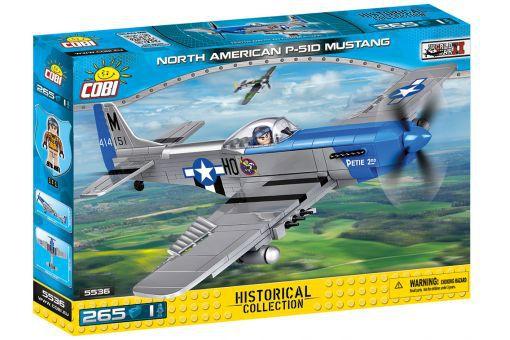 AVIÃO MILITAR MUSTANG NORTH AM P-51D BLOCOS PARA MONTAR COM 265 PÇS