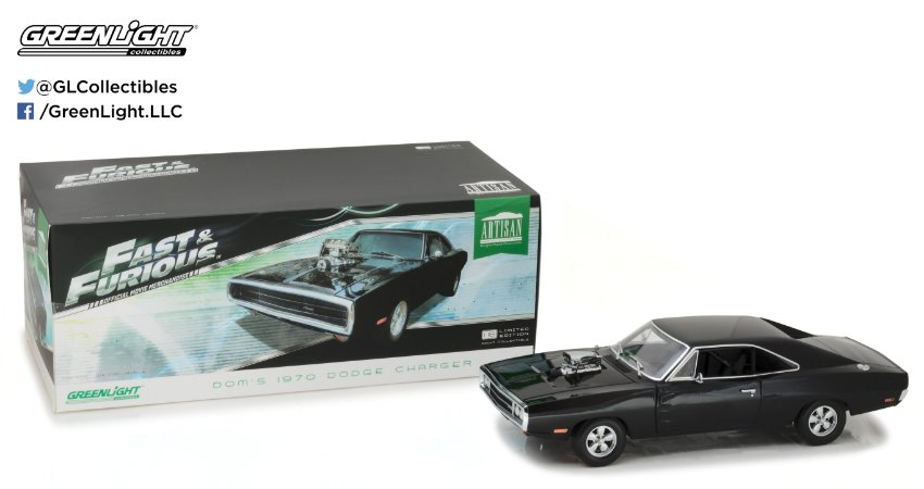 1970 DODGE CHARGER ARTISAN COLLECTION FAST & FURIOUS 1/18
