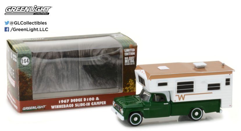 1967 DODGE D100 WINNEBAGO TRAILER 1/64