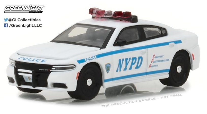 2017 DODGE CHARGER NEW YORK HOT PURSUIT 1/64