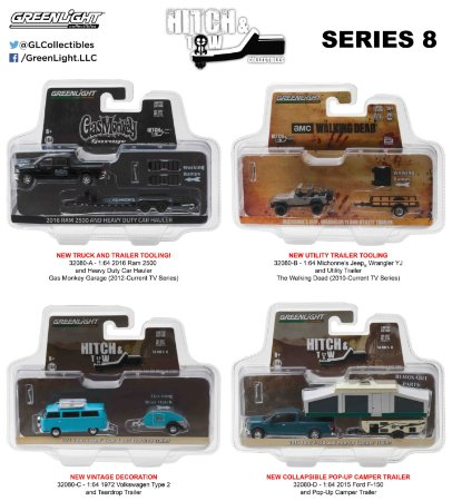 HITCH & TOW SEIRES 8 ASSORTMENT 1/64