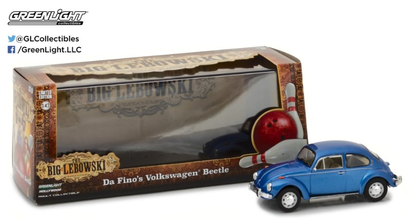 "VW FUSCA DA FINO'S ""THE BIG LEBOWSKI"" 1/43"