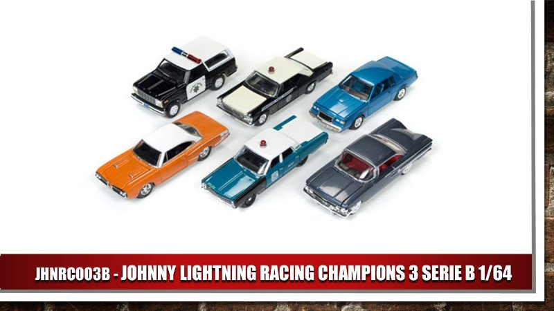 JOHNNY LIGHTNING RACING CHAMPIONS 3 SERIE B 1/64