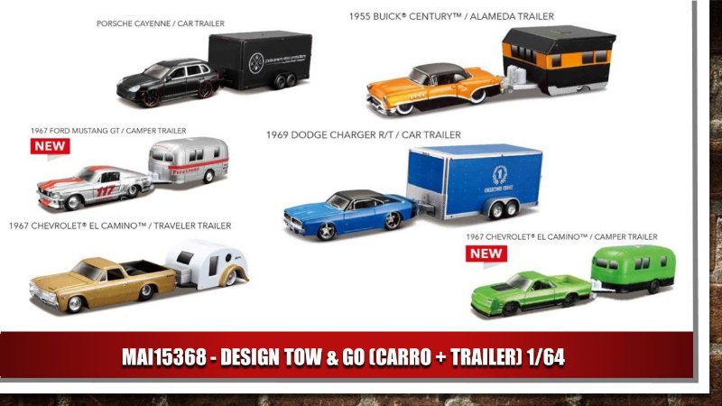 DESIGN TOW & GO (CARRO + TRAILER) 1/64