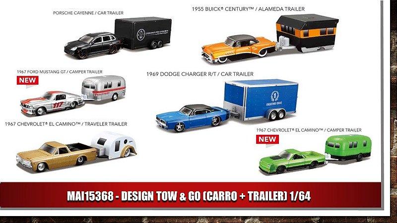 DESIGN TOW & GO (CARRO + TRAILER) 1/64