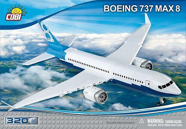 AVIAO BOEING 737 MAX 8 BLOCOS PARA MONTAR COM 320 PCS