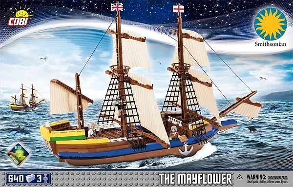 "CARAVELA "" THE MAYFLOWER"" BLOCOS PARA MONTAR COM 640 PCS"