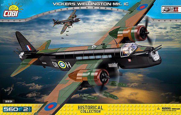 AVIÃO BOMBARDEIRO BRITANICO VIKKERS WELLINGTON MK.1C BLOCOS PARA MONTAR COM 560 PCS