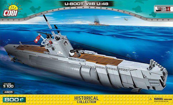 SUBMARINO ALEMÃO U-BOOT U-48 VII B BLOCOS PARA MONTAR COM 800 PCS