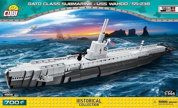 SUBMARINO AMERICANO USS WAHOO GATO CLASS BLOCOS PARA MONTAR COM 700 PCS