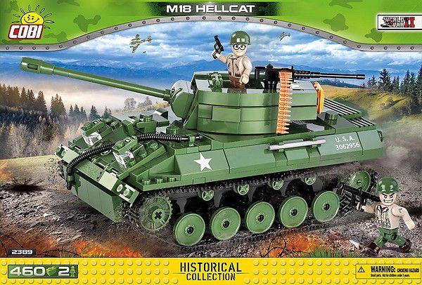 TANK AMERICANO M18 HELLCAT BLOCOS PARA MONTAR COM 460 PCS