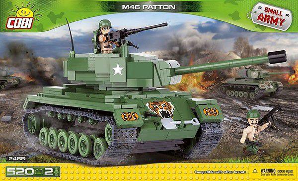 TANK AMERICANO M46 PATTON BLOCOS PARA MONTAR COM 520 PCS