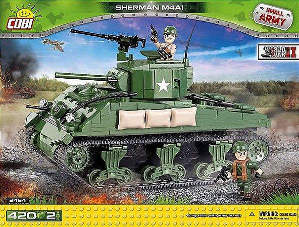 TANQUE MILITAR SHERMAN M4A1 BLOCOS PARA MONTAR COM 400 PÇS