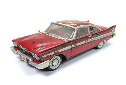1958 PLYMOUTH FURY CHRISTINE DIRTY AUTO WORLD 1/18