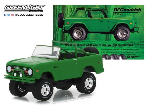 1971 FORD BRONCO BF GOODRICH VINTAGE AD CARS 1/64