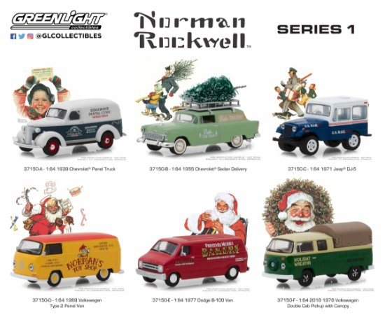 NORMAN ROCKWELL DELIVERY VEHICLES SERIE 1 1/64