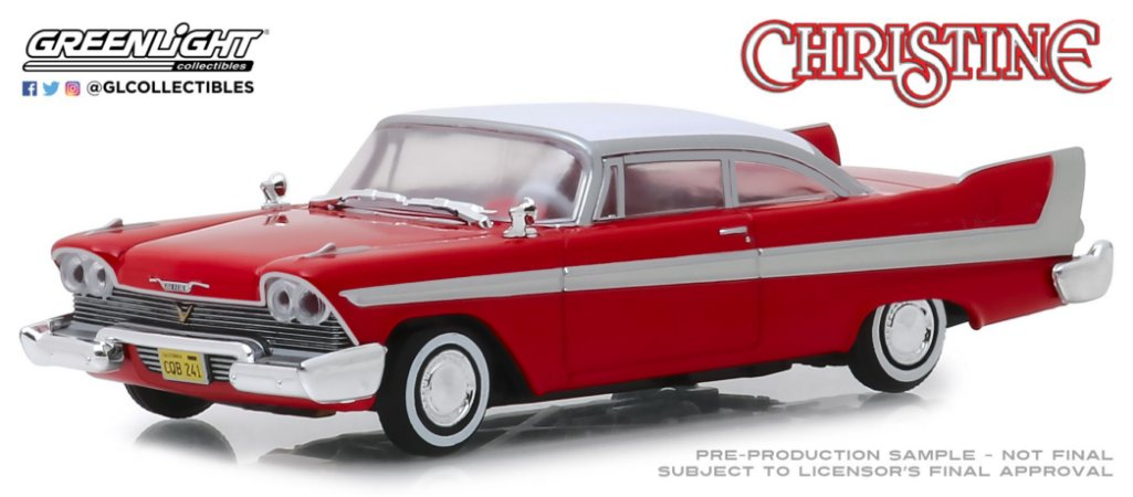 1958 PLYMOUTH FURY CHRISTINE 1/43