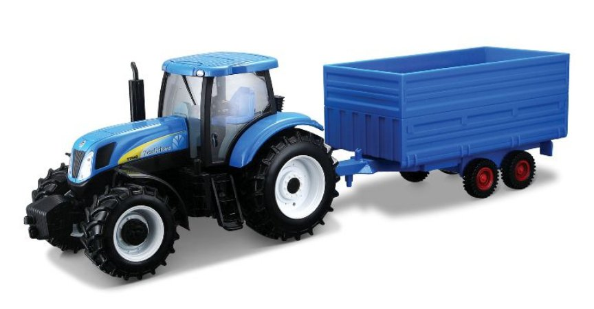 TRATOR NEW HOLLAND T7 + TRAILER 1/32