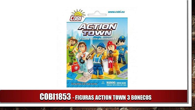 FIGURAS ACTION TOWN 3 BONECOS