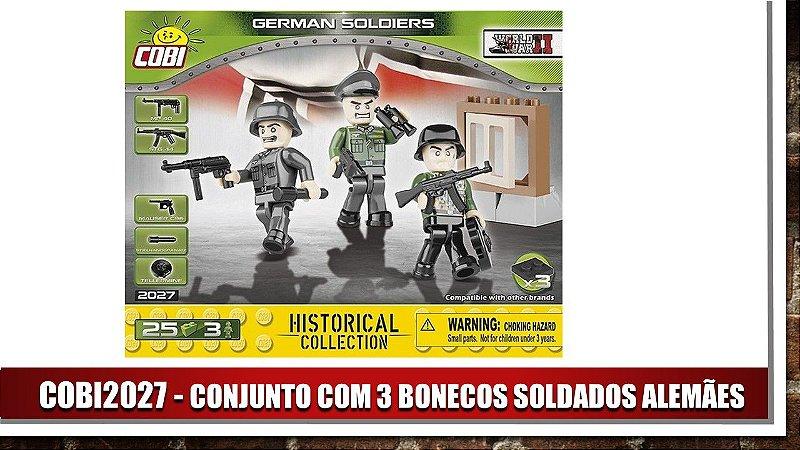CONJUNTO COM 3 BONECOS SOLDADOS ALEMÃES