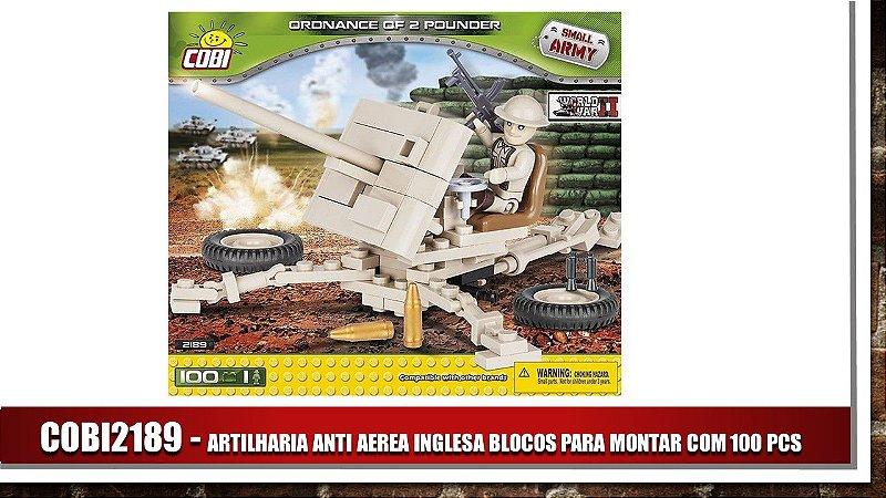 ARTILHARIA ANTI AEREA INGLESA BLOCOS PARA MONTAR COM 100 PCS