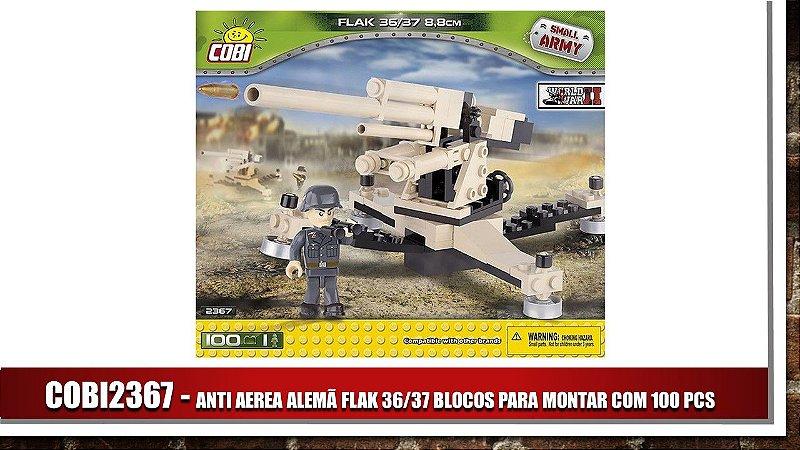 ANTI AEREA ALEMÃ FLAK 36/37 BLOCOS PARA MONTAR COM 100 PCS