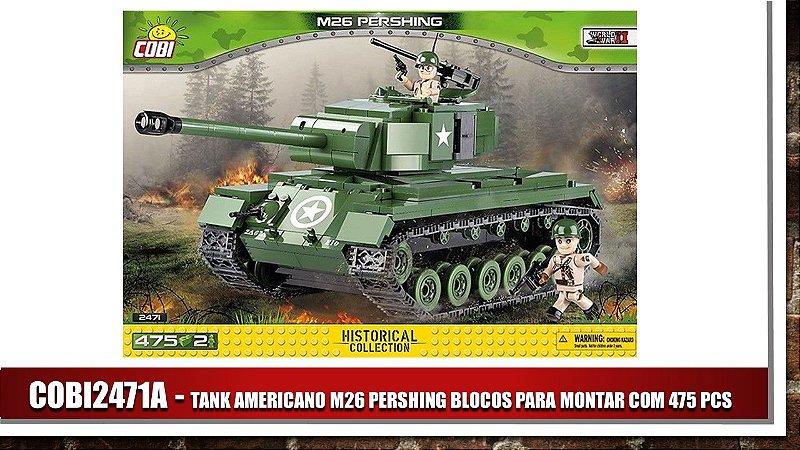 TANK AMERICANO  M26 PERSHING BLOCOS PARA MONTAR COM 475 PCS