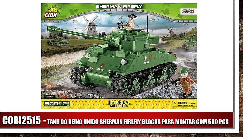 TANK DO REINO UNIDO SHERMAN FIREFLY BLOCOS PARA MONTAR COM 500 PCS