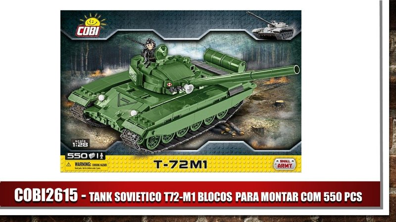 TANK SOVIETICO T72-M1 BLOCOS PARA MONTAR COM 550 PCS