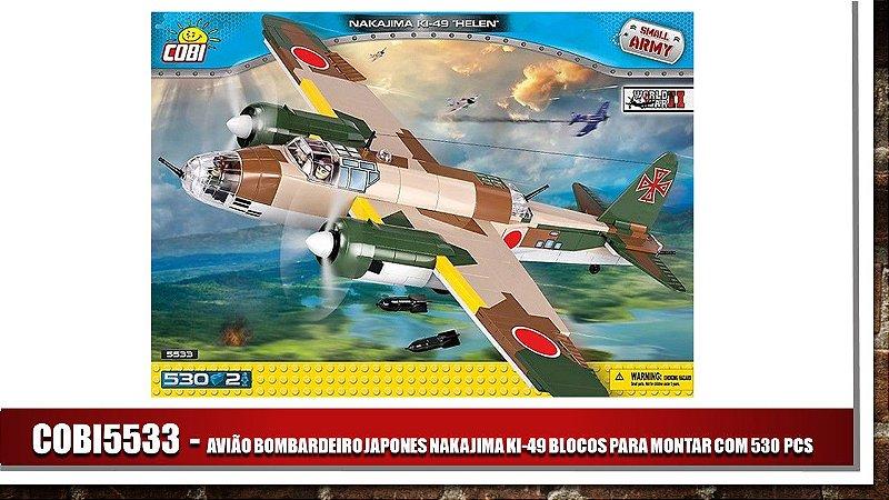 AVIÃO BOMBARDEIRO JAPONES NAKAJIMA KI-49 BLOCOS PARA MONTAR COM 530 PCS