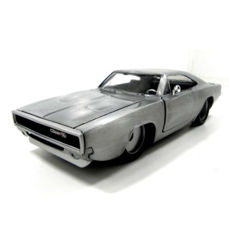 1968 DODGE CHARGER CINZA ESCOVADO FF 1/24