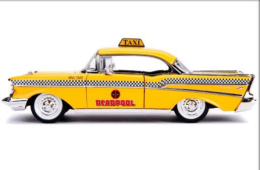 1:24 1957 CHEVY BEL AIR TAXI  DEADPOOL