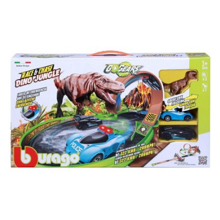 AUTO PISTA DINOSSAURO BUILD N PLAY