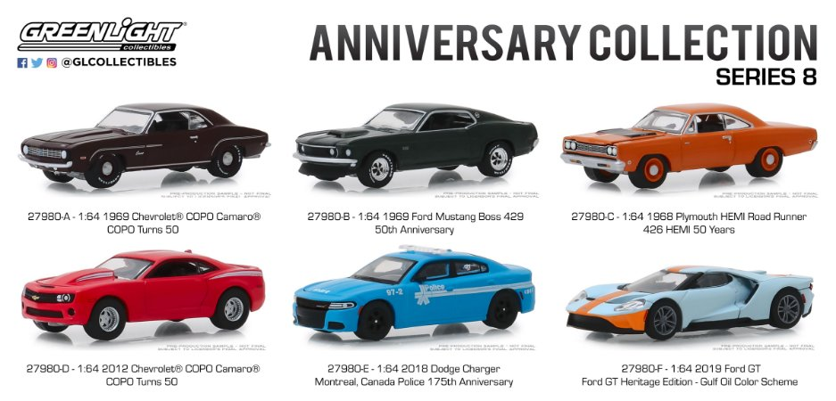 ANNIVERSARY COLLECTION SERIE 8 1/64