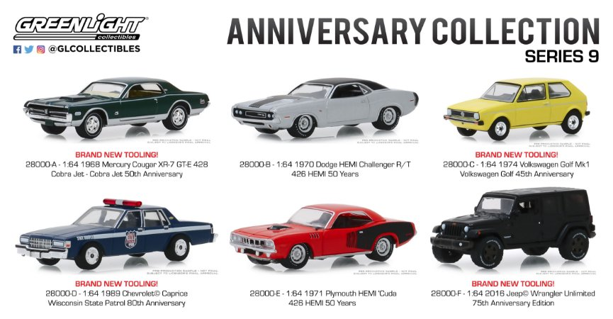 ANNIVERSARY COLLECTION SERIE 9 1/64
