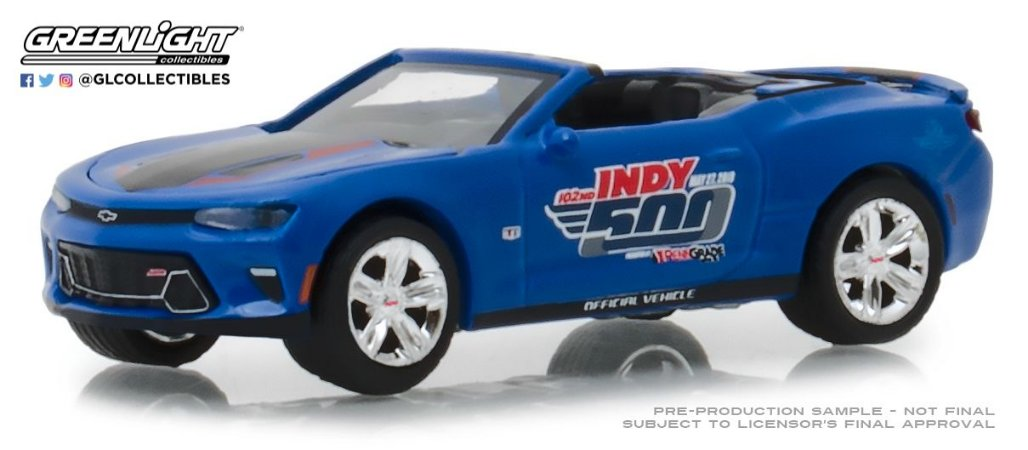 2018 CHEVY CAMARO CONVERSIVEL 102 INDY 500 EVENT CAR 1/64