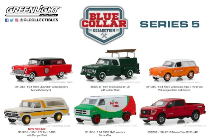WORK & PLAY BLUE COLLAR COLLECTION SERIE 5 1/64