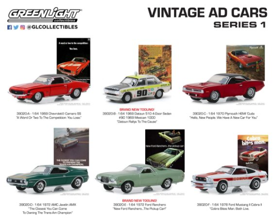 VINTAGE AD CARS SERIE 1 1/64
